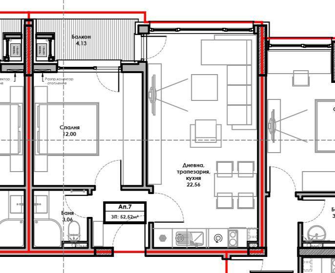 План на апартамент